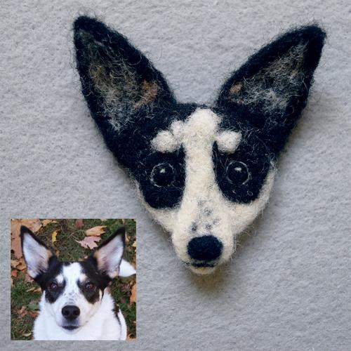 Buffy the dog pin