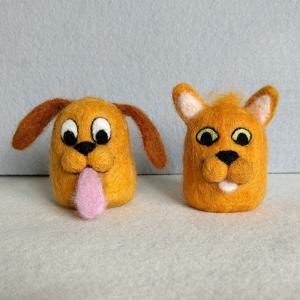 Cartoon Dog and Cat figures