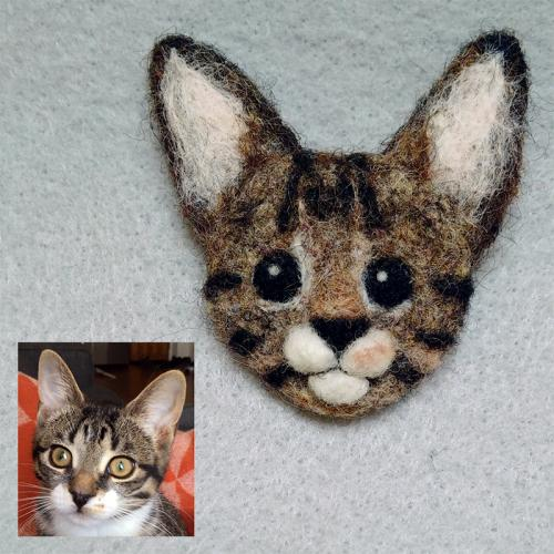 Duncan the cat pin