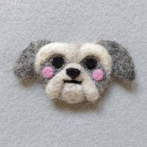 Needle felt Shitzu pin