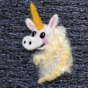 Needle felt Unicorn pin