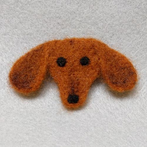 Dachshund Brown pin