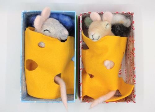 Sleepy Mice Cheese Blankets