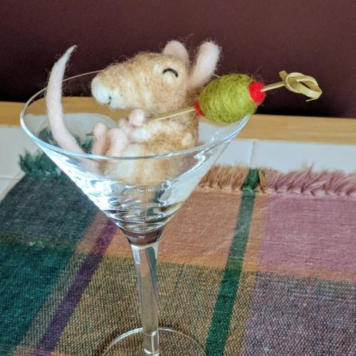 Sleepy Martini Mouse