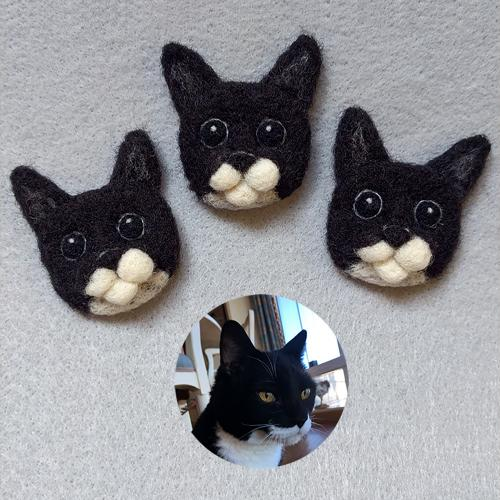 Mister Trouble the Cat pins