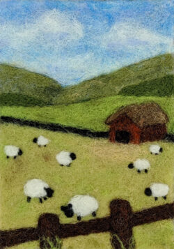 4x6 Summer Sheep Painting